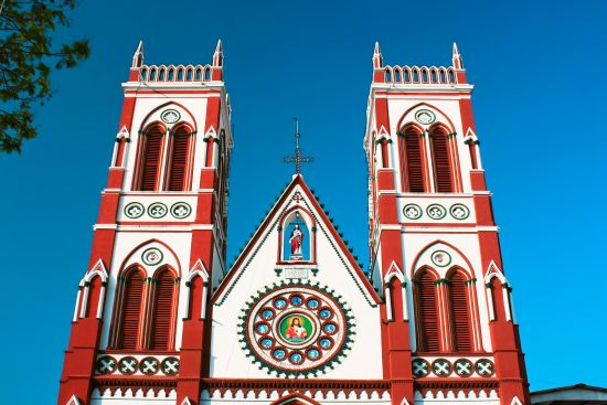 Sacred heart church in Puducherry, Tamil Nadu